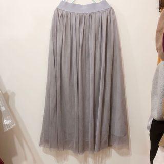 近全新轉賣 錦衣衛紗裙 煙灰色85cm 有內裡 多層紗裙 長裙 A字裙 裙子