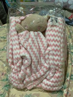 Baby Blanket with washcloth toy