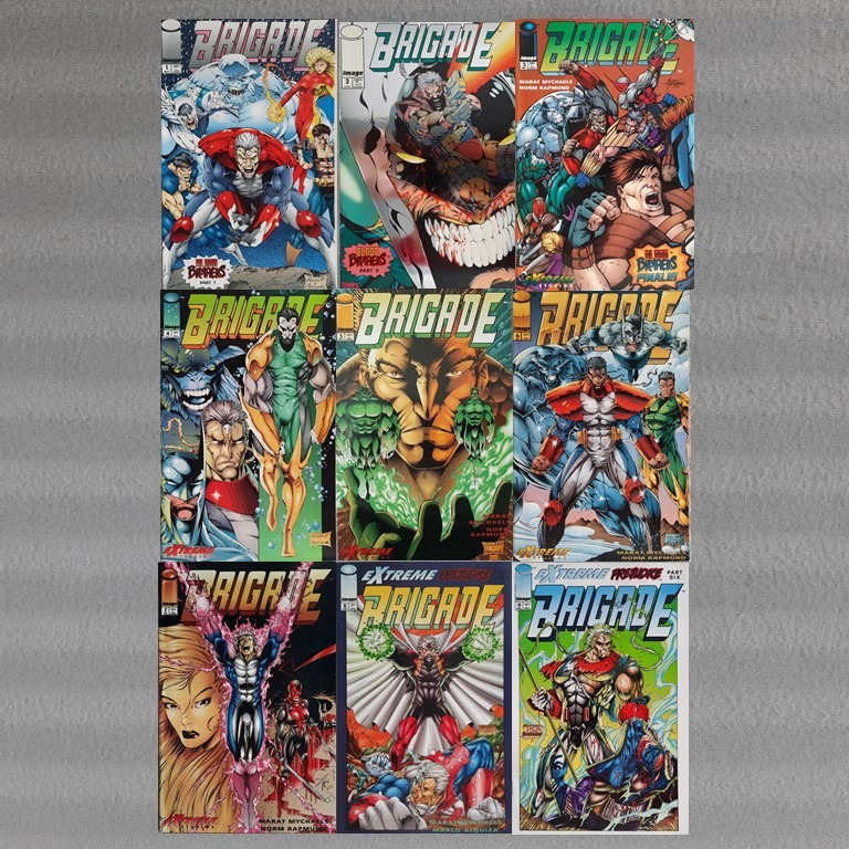 SIGNED IMAGE COMICS ISSUE #1 BRIGADE; by Marat Mychaels /& Norm Rapmund 1992