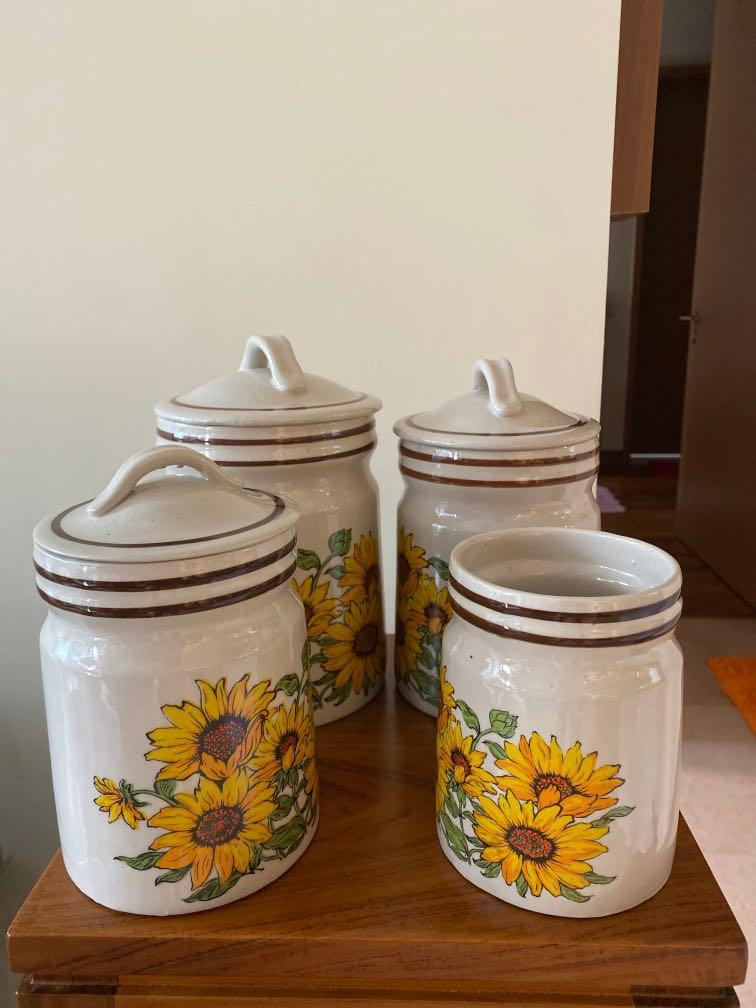 Ceramic Containers X4 Home Appliances Kitchenware On Carousell
