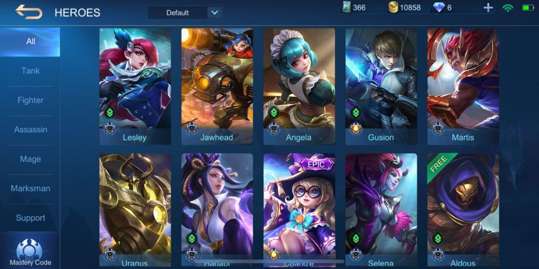 Chang E Akun Mobile Legends Video Gaming Video Games On Carousell