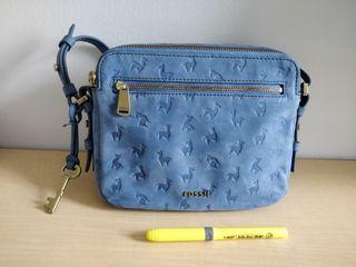 Fossil Alpaca / Llama Print Crossbody Bag
