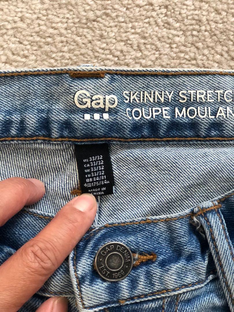 Gap Skinny Stretch Jeans - 33x32