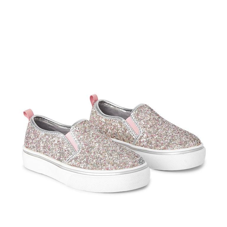 Girls' Glitter Sneakers (Size 6 & 7)