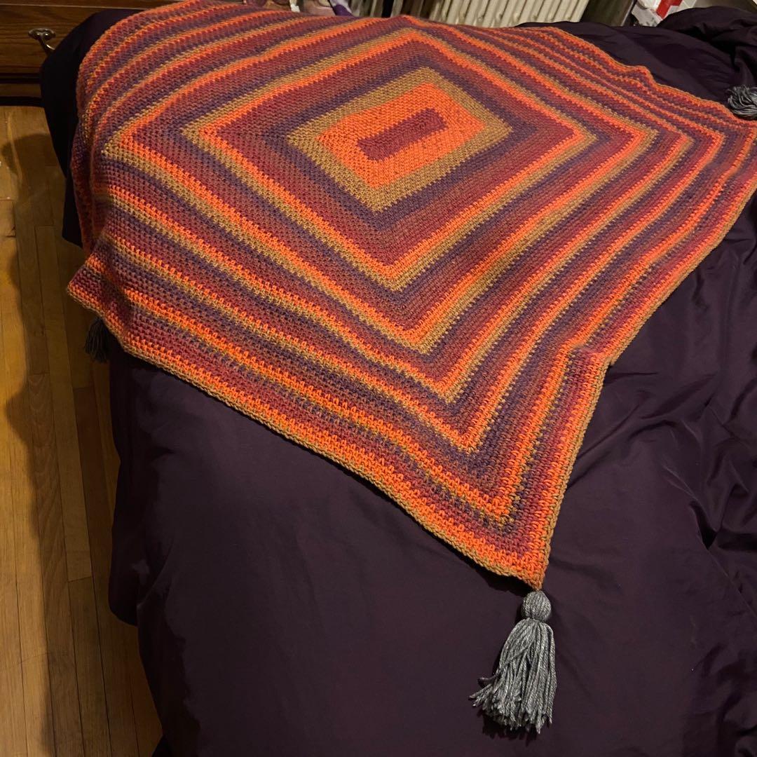 Handmade Rectangle crochet blanket