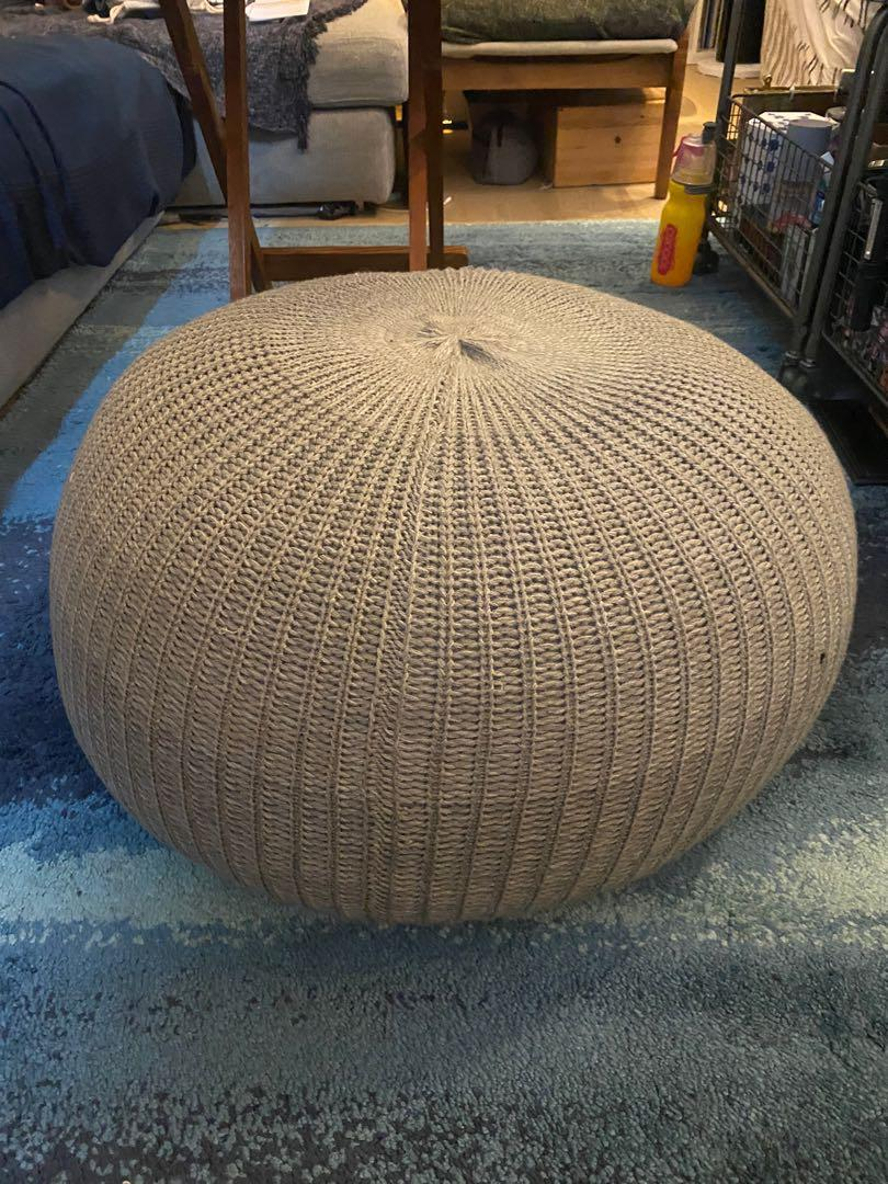 Ikea Sandared Pouf Grey 56cm Furniture Home Decor Others On Carousell