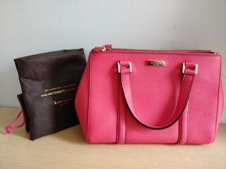 Kate Spade Hot Pink 3-Compartment Bag