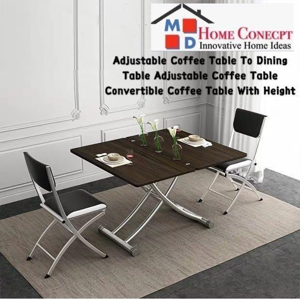 Md Home Adjustable Coffee Table With Height Furniture Tables Chairs On Carousell