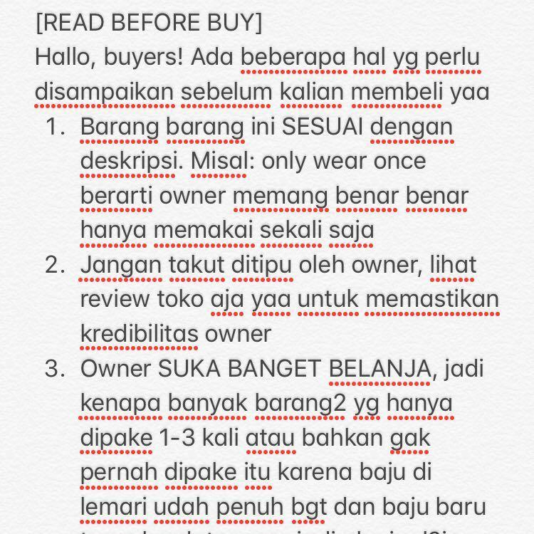 NOTIFICATION! Yukk baca dulu sebelum membeli 😘