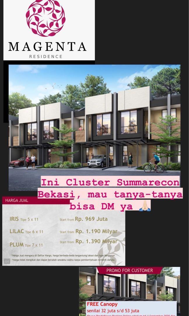 Rumah Cluster Magenta Summarecon Bekasi