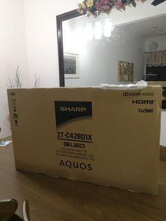 "Sharp 2T-C42BD1X 42"" LED TV Unopened Box For Sale"