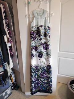 Ted Baker Dress - Halter Mint Blue Floral