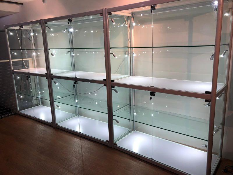 Tempered Glass Display Cabinet With, Glass Display Cabinet Singapore
