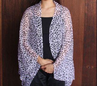 Trixy Cocoon Kimono Grey Motif Leopard