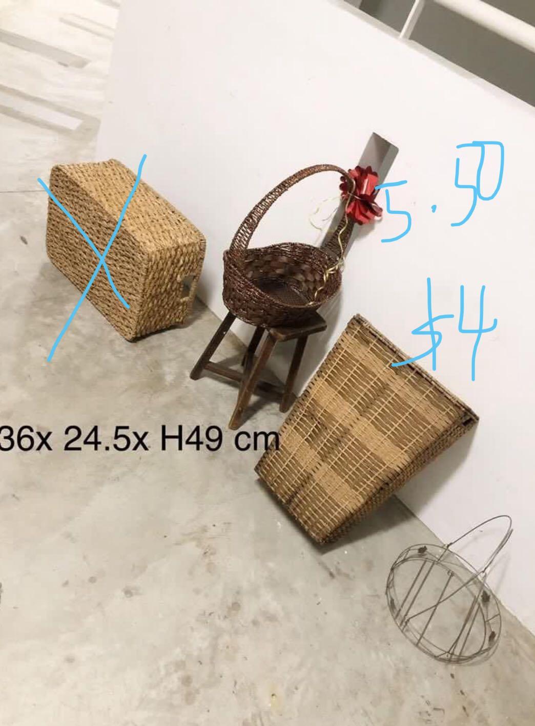 Large Rattan Basket Storage Organiser Weave Wicker Organizer Everything Else On Carousell