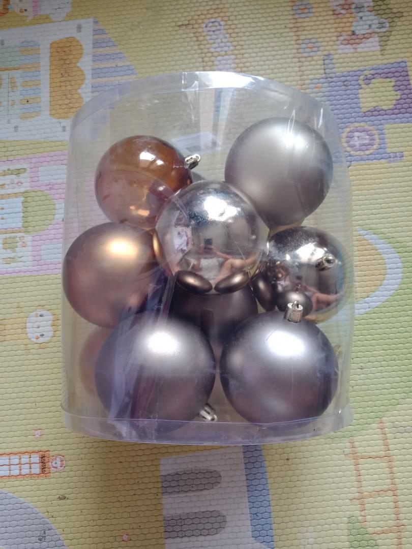 Christmas solid ball dekorasi pohon natal