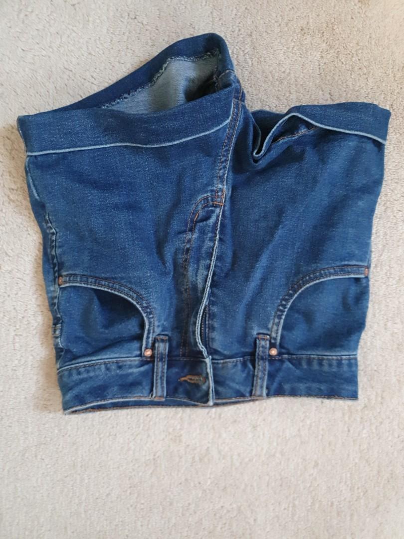 Cotton on blue jeans