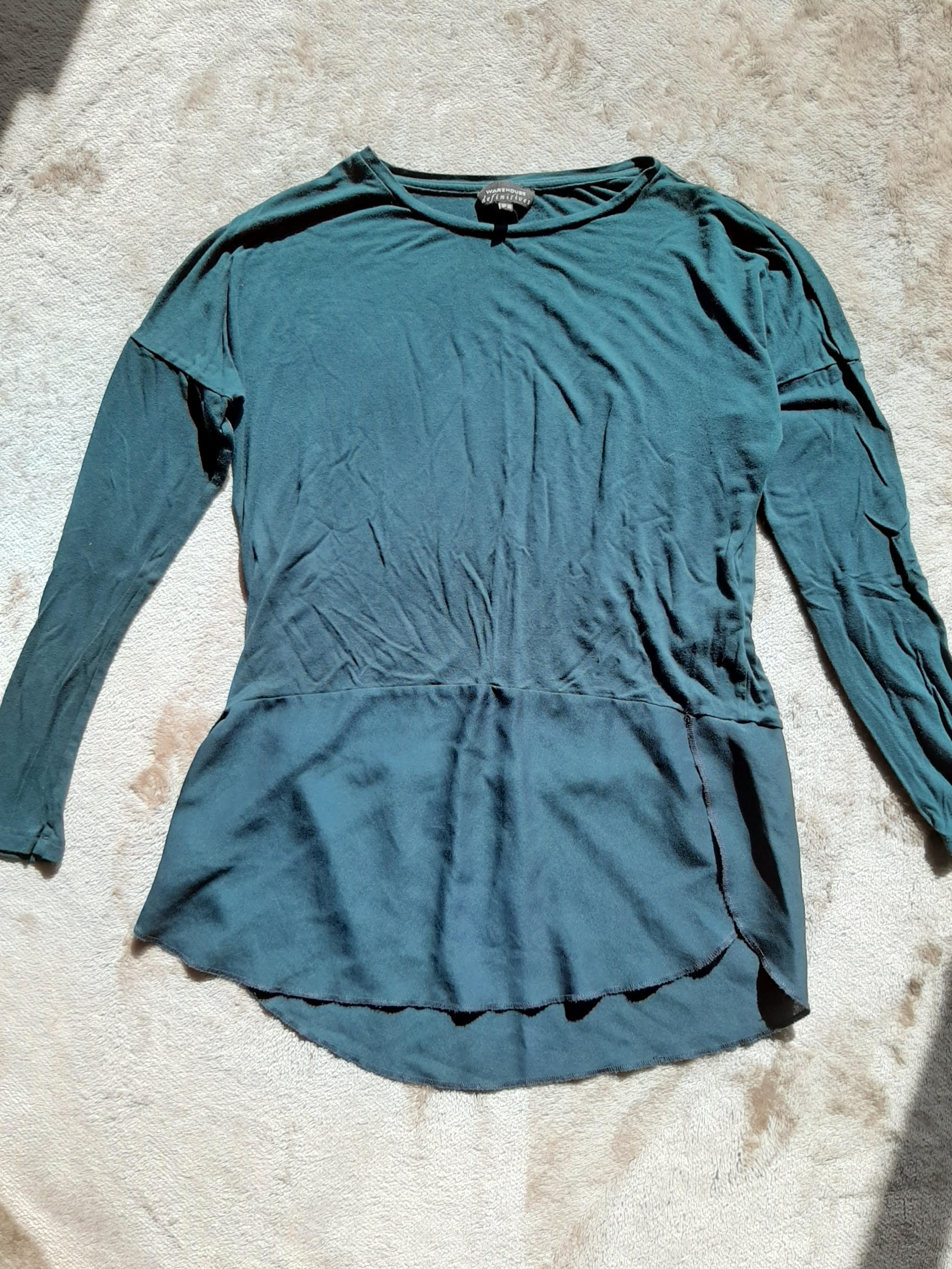 Emerald green long sleeve top