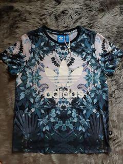 Kaos Adidas Tee Floral Firebird