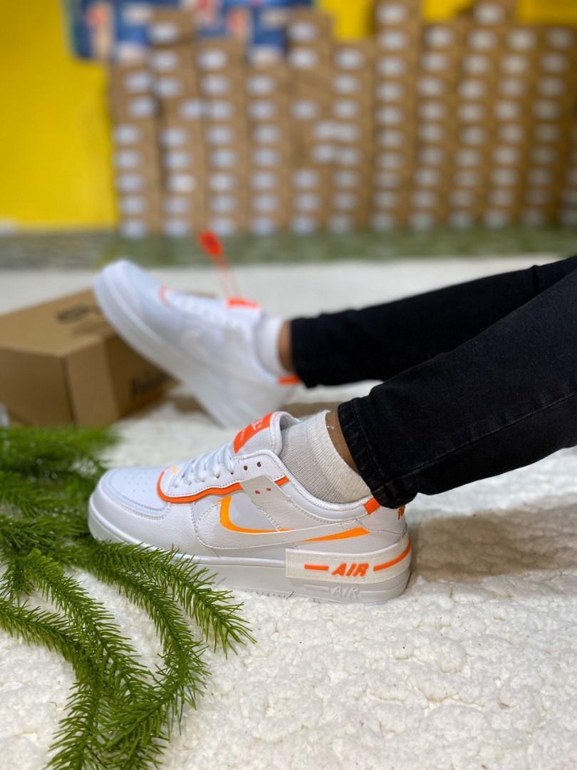 Kasut Nike Air Force 1 White Orange