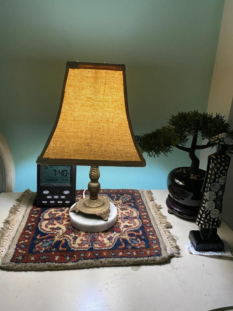 Marble And Brass Small Table Lamp X 2 Furniture Home Decor Lighting Supplies On Carousell