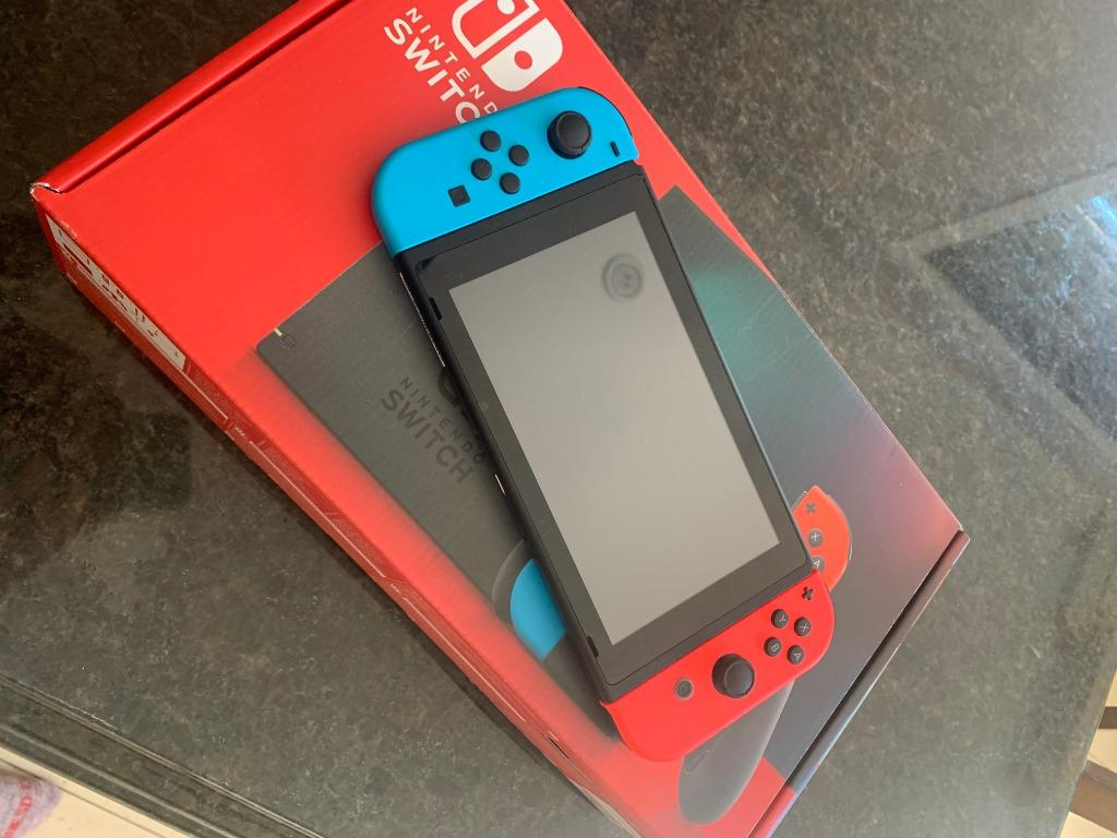 Nintendo Switch with Animal Crossing and all Accessories