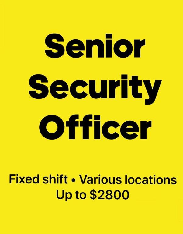 Security Officer (SSO/SS) North/South/East/West