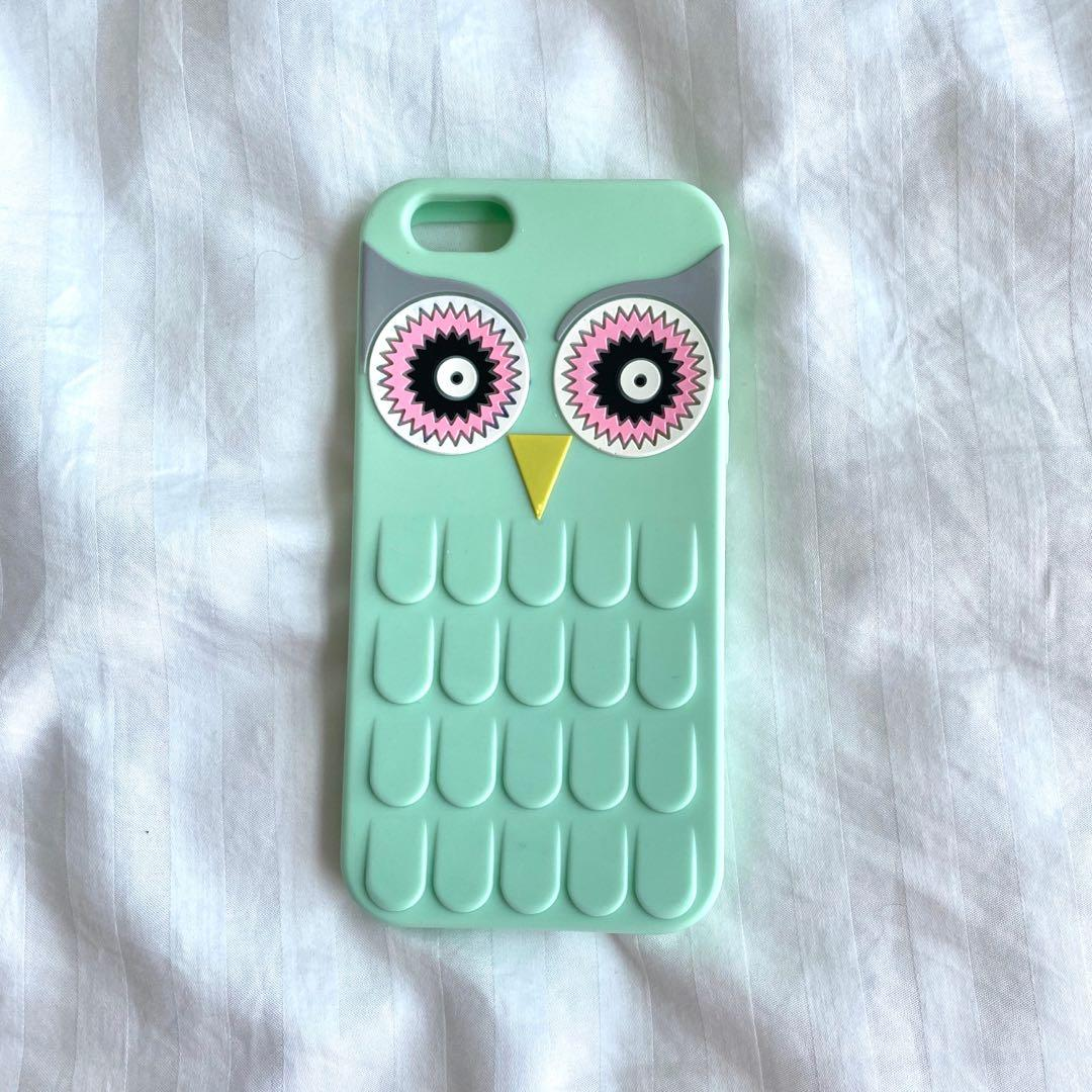 teal green owl iphone 6 case
