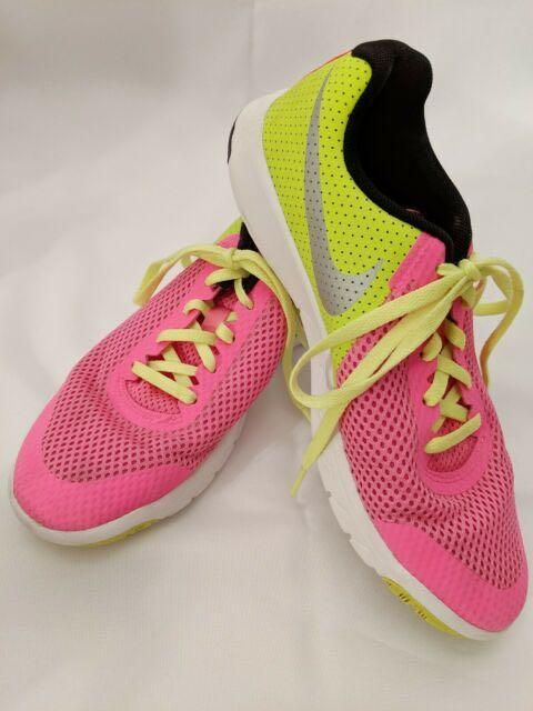 wts ] nike sports running shoes neon