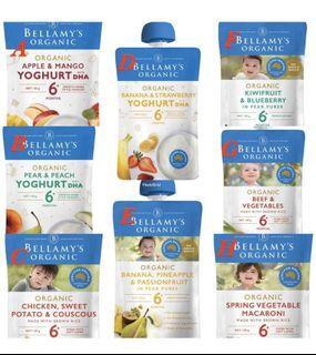 Bellamy Organic 寶寶天然副食品