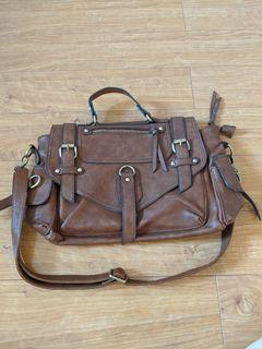 Call it spring - brown messenger crossbody handbag  in great condition