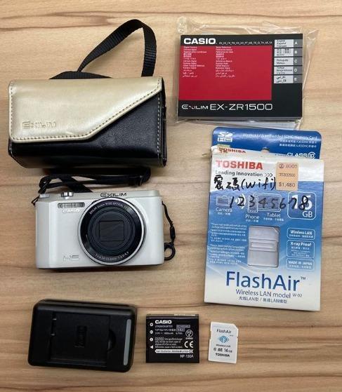 [二手]Casio ZR1500白色相機 公司貨全配