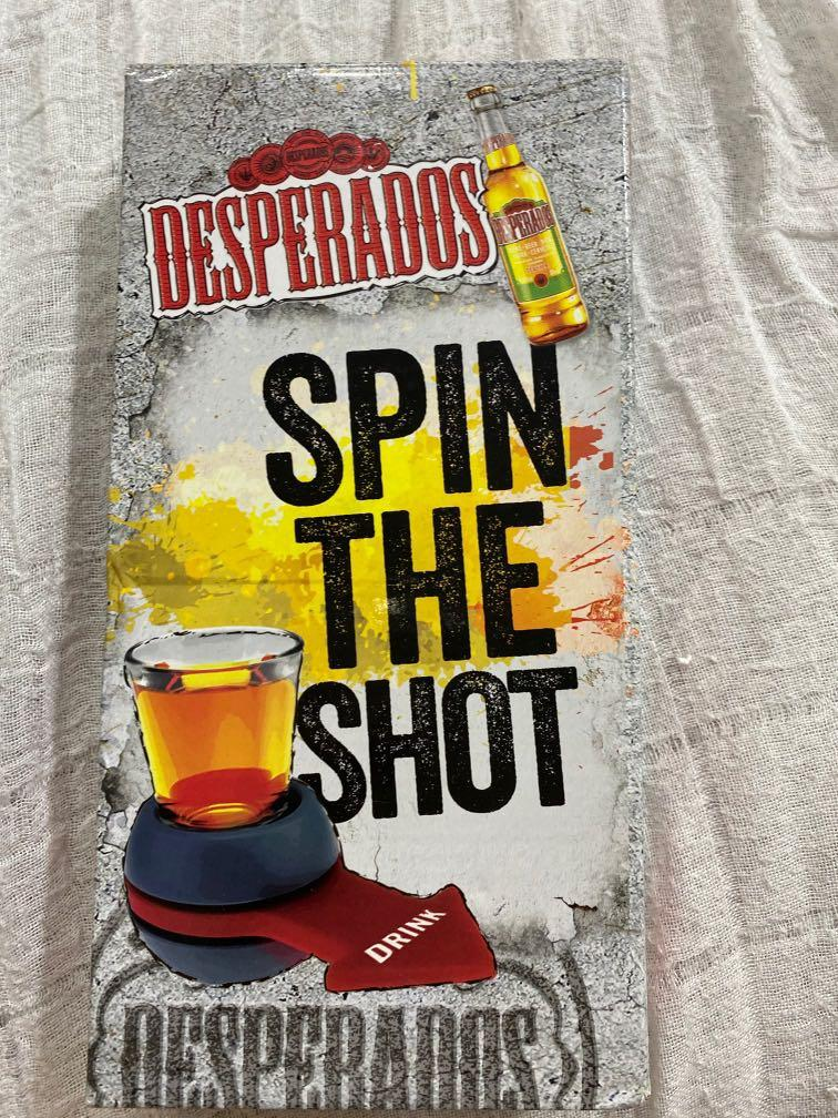 Desperados Spin The Shot Drinking Dare Game Toys Games Board Games Cards On Carousell