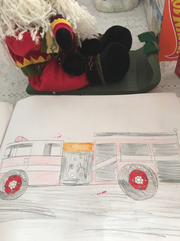 Engine 1 Pumper drawing