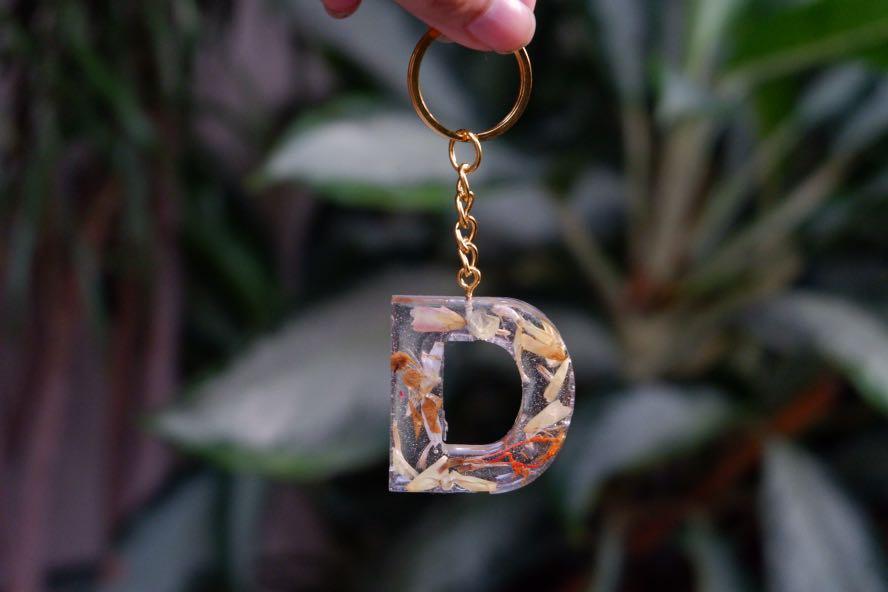 Gantungan Kunci Dried flower / Keychain Resin