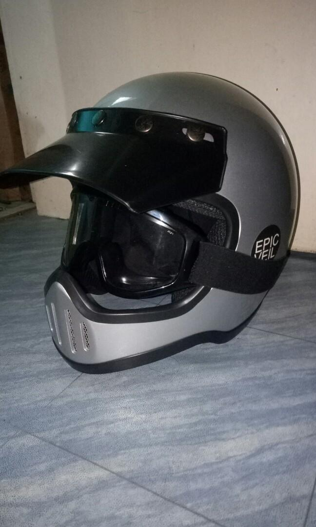 Helm fullface retro