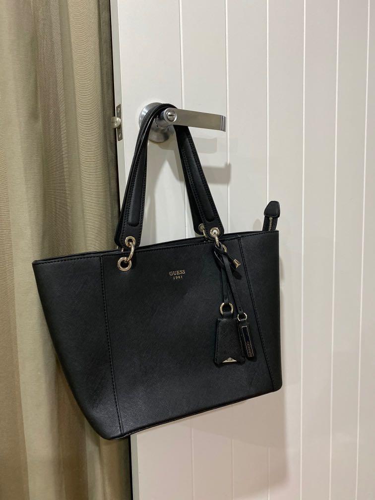 Real Black Guess Mom Purse