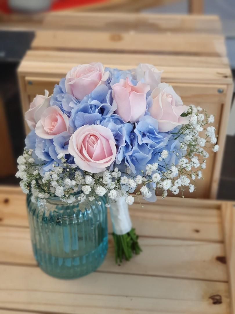 Wedding Rom Bridal Bouquet Pws Bouquet Hydrangea Flower Gardening Flowers Bouquets On Carousell