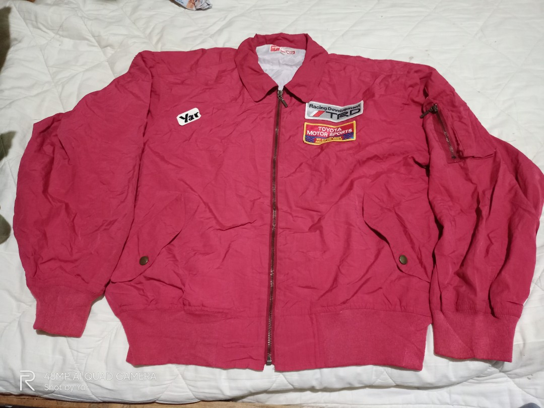 Vintage Jdm Og 90s Toyota Trd Racing Bomber Jacket Men S Fashion Clothes Outerwear On Carousell