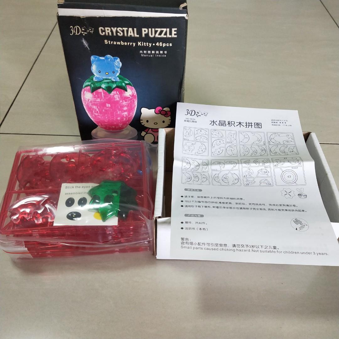 3D Crystal Puzzles Hello Kitty