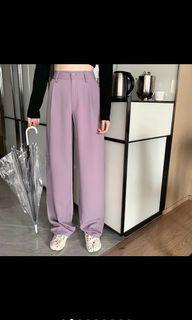 紫色寬褲 落地褲