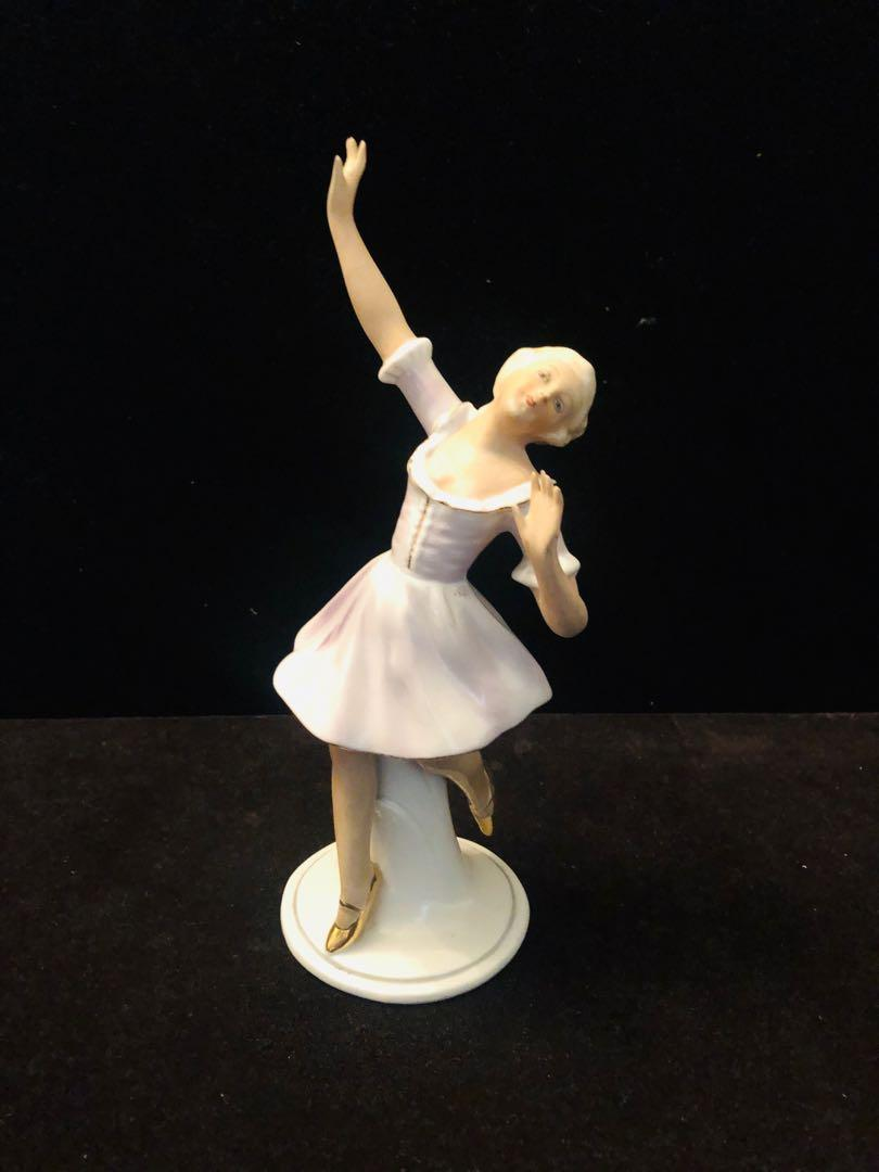 "Antique porcelain ballerina figurine made in Germany 7.5""H"