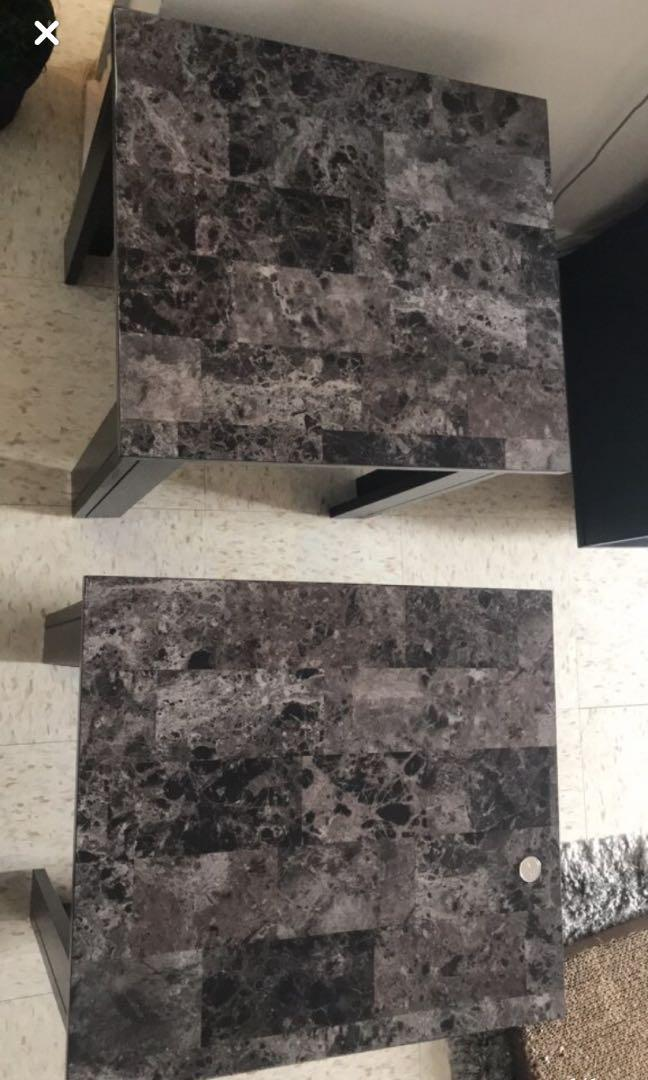 Black/grey marble coffee table