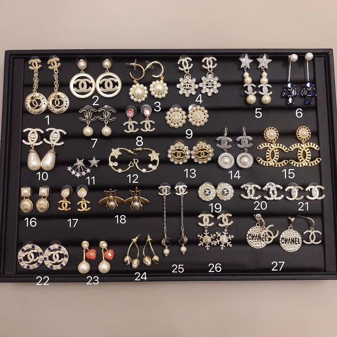 Chanel and Dior bracelet,nicklace and  earings