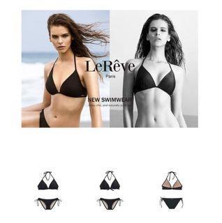 LEREVE AIRise Tri Bikini  法式空氣美型比基尼 M號 黑