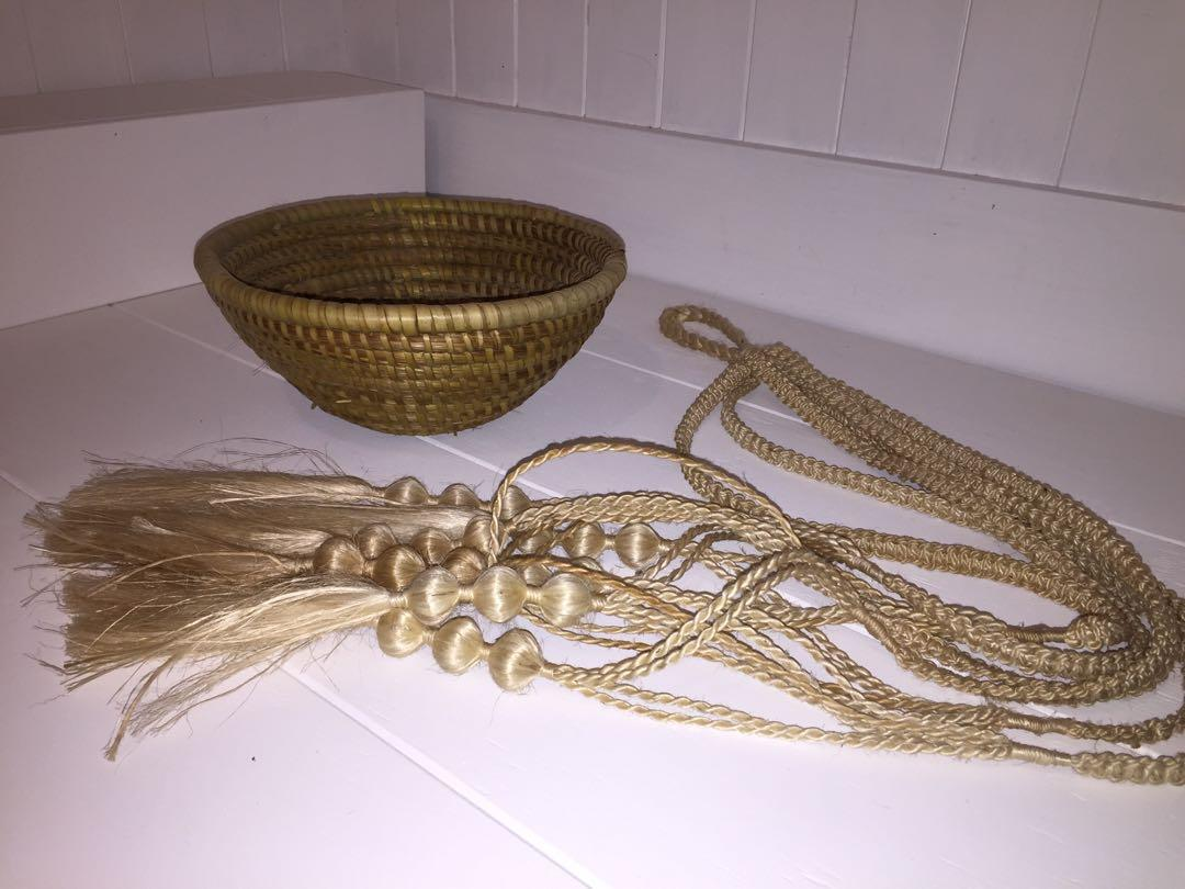 Macrame and Basket