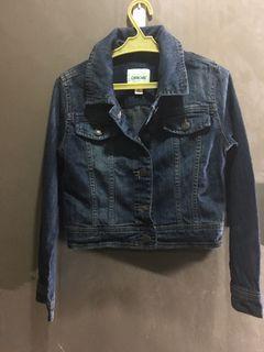 Maong crop jacket