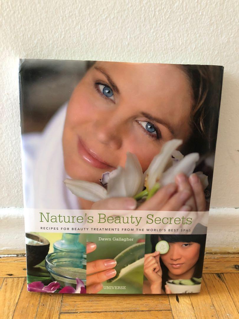 Nature's beauty secrets hardcover book