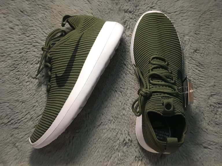 Nike Roshe Running Shoes Dark Green