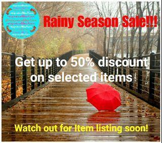 Rainy Season Sale! Up to 50% Off